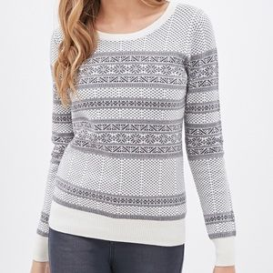 Forever 21 Contemporary Fair Isle Sweater Size M